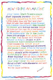 How to Be an Artist, Art Print