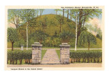 Indian Mound, Moundsville, West Virginia, Art Print