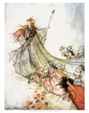 Titania with her Fairies Art Print, Arthur Rackham