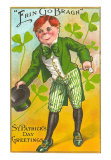 St. Patrick's Day, Erin Go Bragh, Leprechaun, Art Print