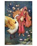 Damayanti and the Swan, Art Print