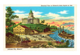 State Capitol, Jefferson City, Missouri, Historical View Art Print