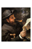 Portrait of Claude Monet Reading, Giclee Print, Edouard Manet