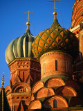 Detail of Onion Domes of St. Basil's Cathedral, Moscow, Russia, Photographic Print