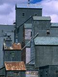 Grain Elevators, North Dakota, USA, Photographic Print
