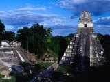 Temple of the Grand Jaguar on the Great Plaza, Tikal, Guatemala, Photograpic Print