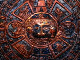 Aztec Calendar on Beaten Copper, Mexico City, Mexico Photographic Print