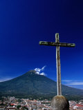 Antigua City and Water Volcano, Sacatepequez, Guatemala, Photographic Print
