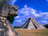 The Castle (El Castillo), also known as the Pyramid of Kukulcan at Chichen Itza, Mexico, Photographic Print