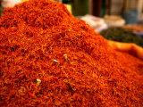 Mound of Saffron for Sale in Bazaar Shiraz, Fars, Iran, Photographic Print