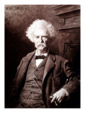 Portrait of Mark Twain, 1902, the Gallery of Modern Art, Pitti Palace, Florence, Photographic Print