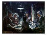 The Potato Eaters - Vincent Van Gogh, Giclee Print