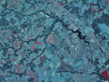 Dover, Delaware from Space, Photographic Print
