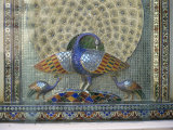 Glass Mosaic Peacock Dating from the Late 19th Century, in City Palace, Udaipur, India, Photographic Print