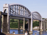 Saltash Railway Bridge Over River Tamar, Built by Brunel, Cornwall, England, United Kingdom, Photographic Print