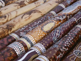 Hand Painted Didgeridoos, Aboriginal Musical Instrument, Australia, Photographic Print
