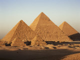 Pyramids at Sunset, Giza, Unesco World Heritage Site, Near Cairo, Egypt, North Africa, Africa, Photographic Print