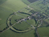 Aerial View of Avebury, UNESCO World Heritage Site, Wiltshire, England, United Kingdom, Photographic Print