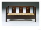 An Inlaid Oak Settle by Harvey Ellis (1852-1904) for Gustav Stickley, Circa 1903, Giclee Print