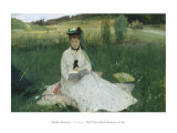 Reading, Berthe Morisot, Art Print