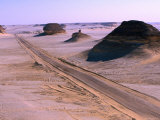 Road from Siwa to Bahariya in Western Desert, Siwa, Egypt, Photographic Print