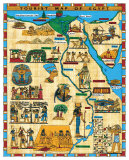 Tourist Map of Egypt, Giclee Pri