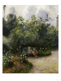 The Garden of les Mathurins at Pontoise, 1876, Camile Pissarro, Art Print