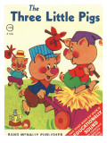 Three Little Pigs, Photographic Print
