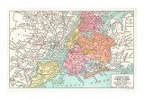 Map of Greater New York City, Art Print