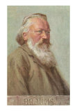 Portrait of Brahms, Art Print