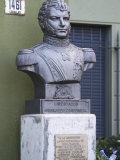 Statue Bust Depicting Bernardo O'Higgins Riquelme at Military Building, Montevideo, Uruguay
