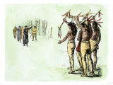 Marquette and Joliet Meeting Native Americans in Illinois, c.1670, Giclee Print
