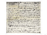 William Clark's Letter Accepting Lewis's Invitation to Join the Corps of Discovery Expedition, Giclee Print