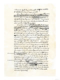 Draft of the Declaration of Independence in Jefferson's Handwriting, Giclee Print