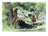Death of Father Marquette in Michigan, Returning from a Mission to the Illinois Indians, c.1675, Giclee Print