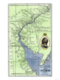 Map of Colonial Sweden in America, c. 1638-1685, Giclee Print