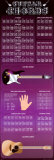 Guitar Chords Door Poster