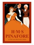 Gilbert & Sullivan: H.M.S. Pinafore, or The Lass That Loved A Sailor, Art Print