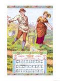 Jack and Jill, c. 1885, Giclee Print, Walter Crane