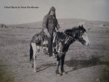Rain in the Face on Horse - Sioux, Photographic Print