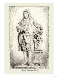 Johann Sebastian Bach, Giclee Print
