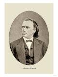 Johannes Brahms, Giclee Print