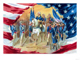 Washington Taking Command of the Army Art Print