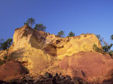 Red Ochre Cliffs Above the Sentier Des Ocres, Roussillon, Vaucluse, Provence, France, Europe, Photographic Print