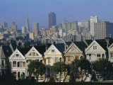 The Painted Ladies, Grand 19th Century Houses, Alamo Square, San Francisco, California, USA, Photographic Print