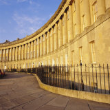 Royal Crescent, Designed by John Wood the Younger, Georgian Architecture, Bath, Avon, England, Print