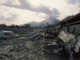 Trail of Destruction Left Behind after Unzen Volcano's Eruption, Japan, Photographic Print