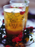 Ginger Tea with Thyme and Red Berries, Photographic Print