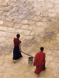 Monks Carrying Yak Butter, Ganden Monastery, Tagtse County, Tibet, Photographic Print
