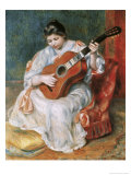 The Guitar Player, Renoir, Giclee Print